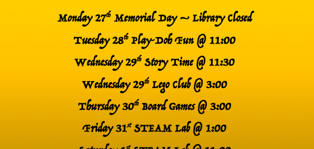 Youth Activities at the Library