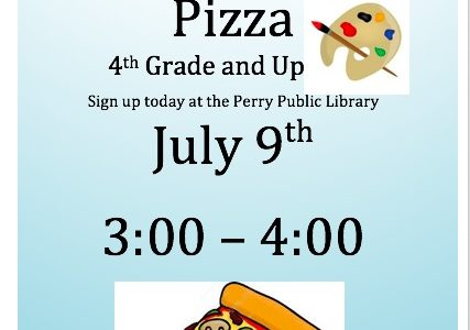 Pizza and Painting!! Come enjoy an afternoon with your friends painting at the library. Sign up at the front desk!