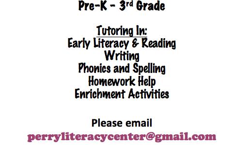 FREE Reading tutoring for children pre-K to 3rd grade.