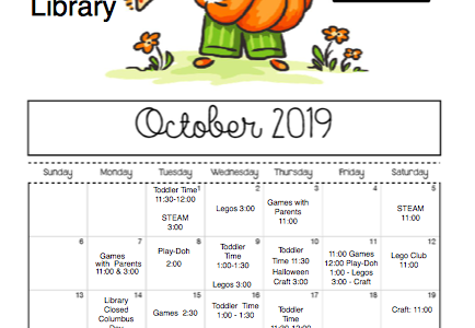 Check out what is happening in October at the library.