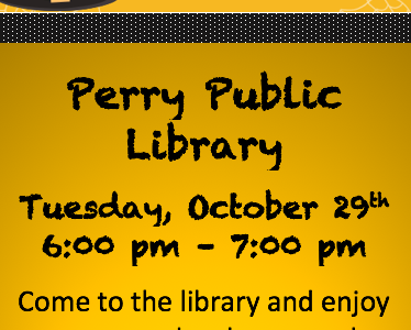 Mark your calendar for October 29th. The library is having a costume party and a read-a-thon in the Youth Section!