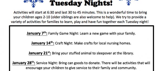 Family Fun Tuesday Nights