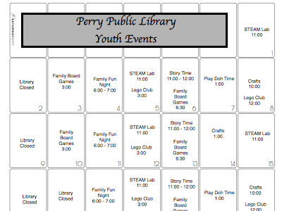 Fun activities are planned for February! Come join us for the events!
